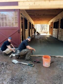 Steel Finish Barn floor